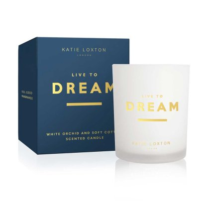Katie Loxton Sentiment Candle – Live To Dream