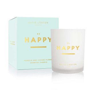 Katie Loxton Sentiment Candle – Be Happy