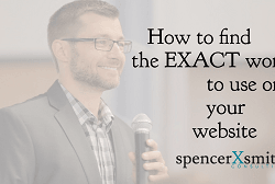 How to find the exact words to use on your website