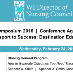 Wisconsin Director of Nursing Council Closing Keynote - Spencer X Smith