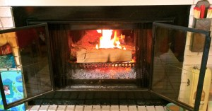 Roaring fire, courtesy of Spence