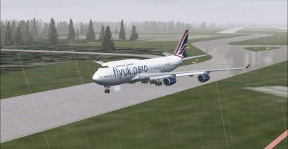 A miserable first greeting from the weather on landing at Tokyo (RJAA)
