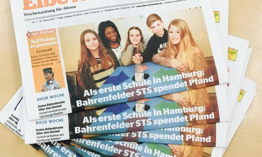 Als erste Schule in Hamburg: Bahrenfelder STS spendet Pfand