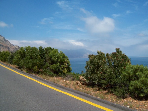 driving along south africa's coast
