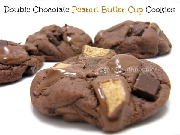 Double Chocolate Peanut Butter Cup Cookies  Spend With