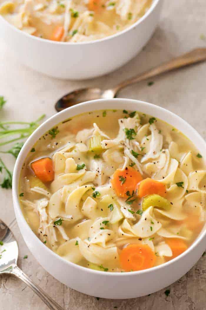 Crockpot Chicken Campbells Soup Recipes : crockpot, chicken, campbells, recipes, Crockpot, Chicken, Noodle, Spend, Pennies