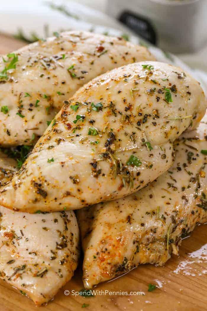 Average Size Of Chicken Breast : average, chicken, breast, Baked, Chicken, Breasts, {Ready, Mins!}, Spend, Pennies