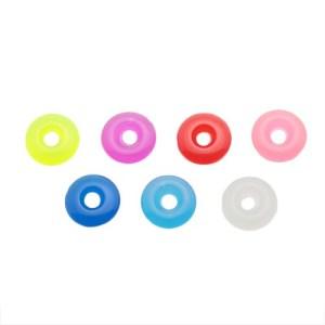 Akrylové farebné koliesko na piercing - prívesok na činku - Farba: Zelenožltá