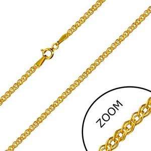 Retiazka v žltom 14K zlate - elipsovité a oválne očko