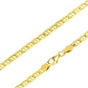 Retiazka v žltom 14K zlate - elipsovité očká predelené paličkou