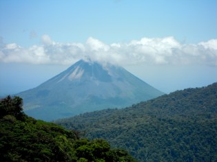 View of Arenal volcano from Santa Elena Cloud Forest Reserve