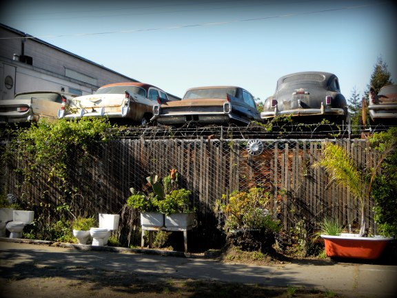 Old cars and tubs