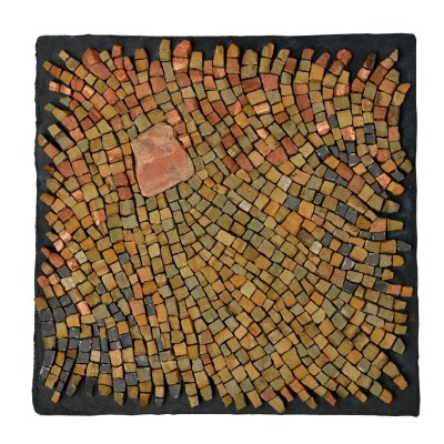"""grounded"" mosaic, sandstone, by Julie Sperling"