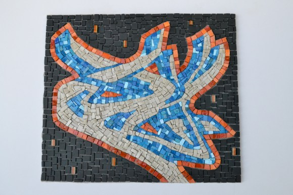 graffiti mosaic - smalti, skateboard, cinca