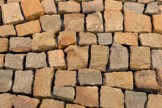 close up sandstone mosaic