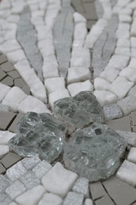 "Close up of ""Thaw"" - mosaic by Julie Sperling"