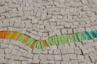 "Detail of ""Pulse"" mosaic by Julie Sperling"