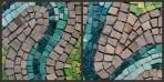 "Detail shot of ""River bend"" mosaic by Julie Sperling"