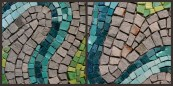 "Detail shot of ""River bend"" mosaic by Julie Sperling"