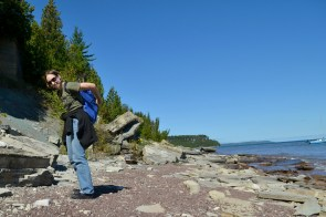 Perfecting the skill of tossing a rock into my backpack (while still on my back)