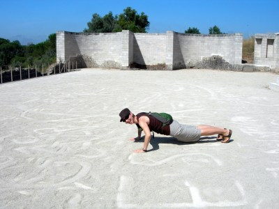 Getting physical in the arena in Coimbra, Portugal