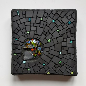 Cinca, smalti, and glass chunk mosaic by Julie Sperling