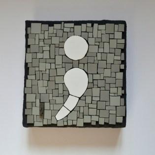 Semicolon mosaic by Julie Sperling