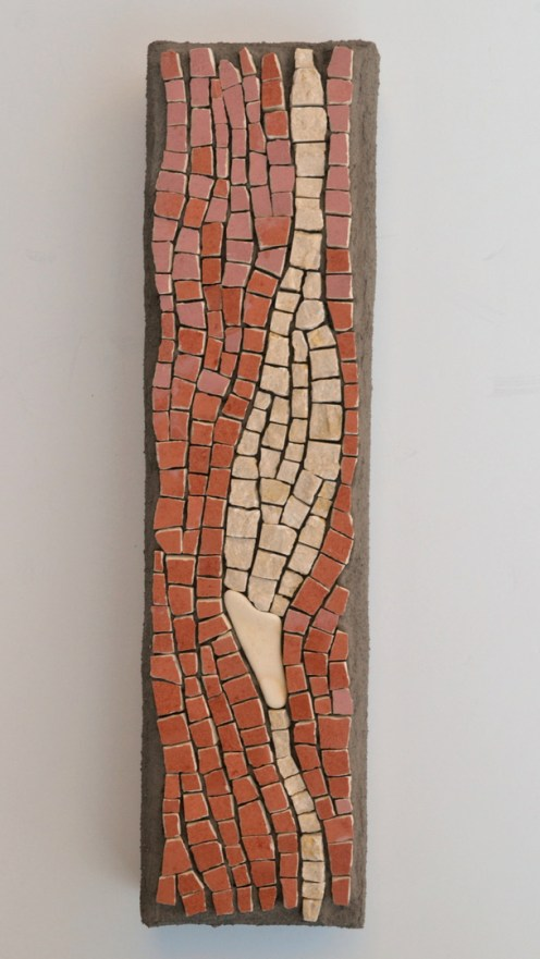 Ceramic tile, marble, and sea pottery mosaic by Julie Sperling