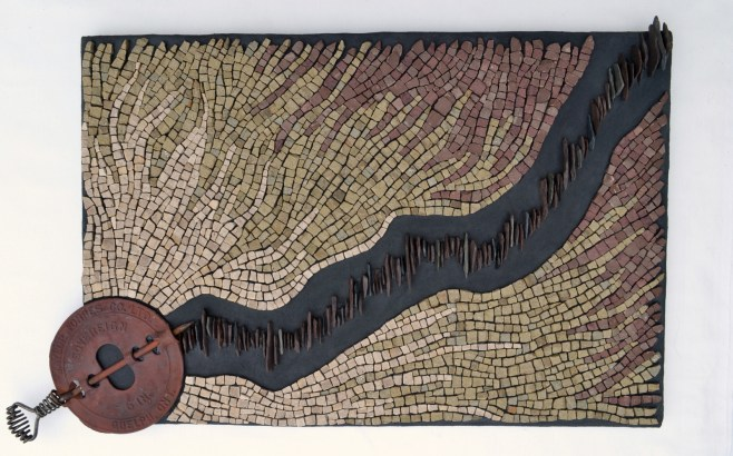 """""""Heat (Each decade hotter than the last)"""" - mosaic by Julie Sperling"""