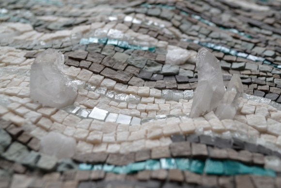 Sea ice mosaic by Julie Sperling (quartz detail)