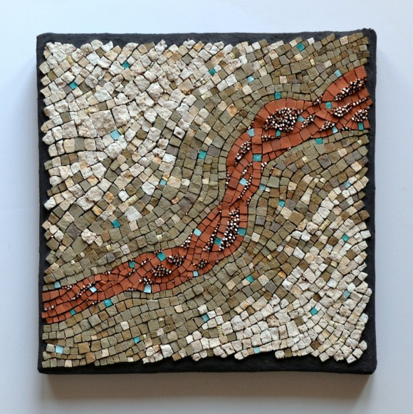 "Julie Sperling ""Weather is not climate"" mosaic"