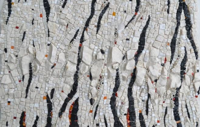"""Black carbon (Potent but actionable)"" mosaic by Julie Sperling"