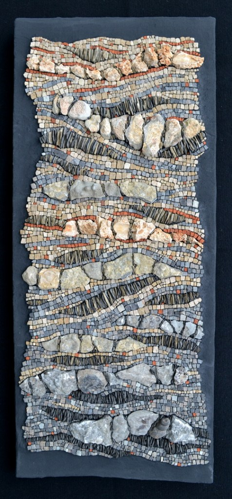 """Fossil of the day"" climate change mosaic by Julie Sperling"