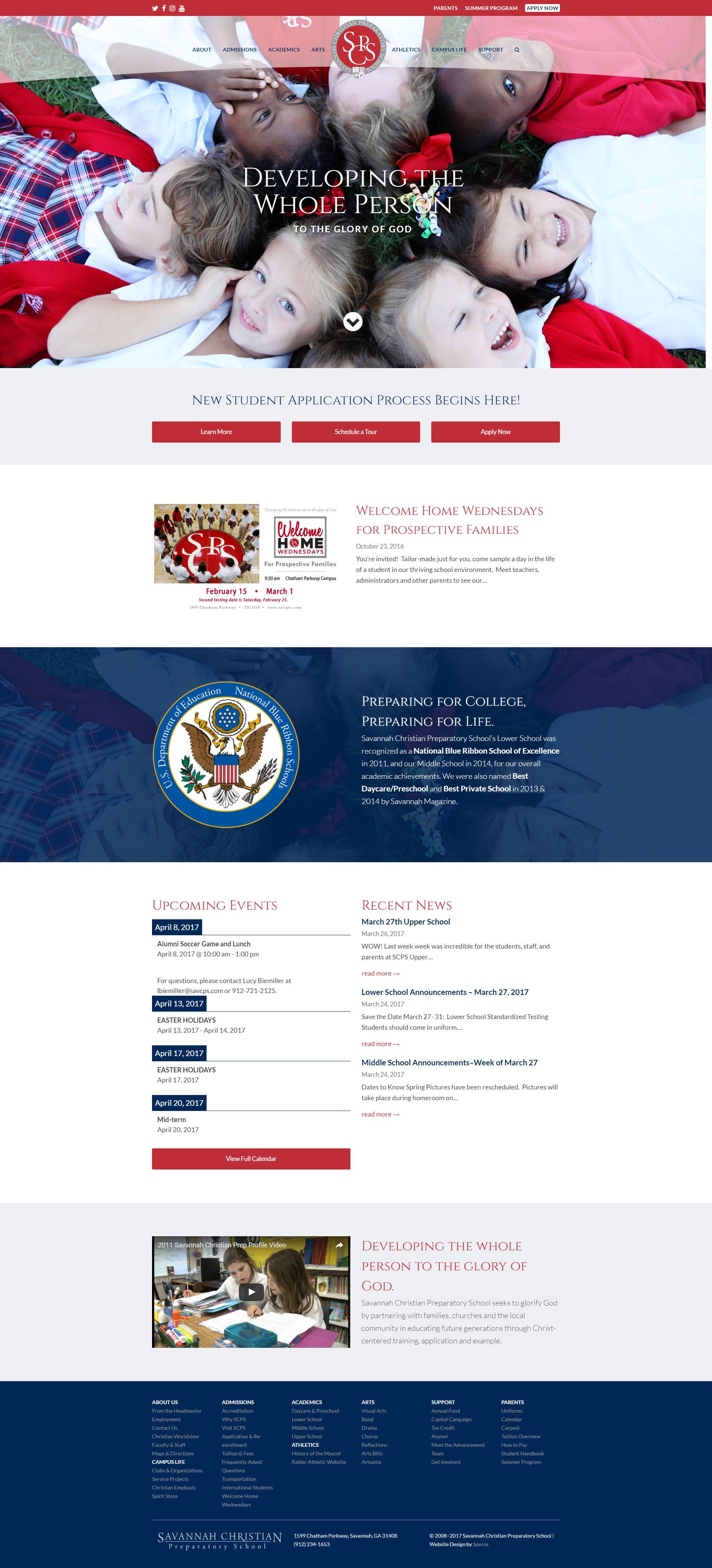 Savannah Christian Preparatory School Website Design