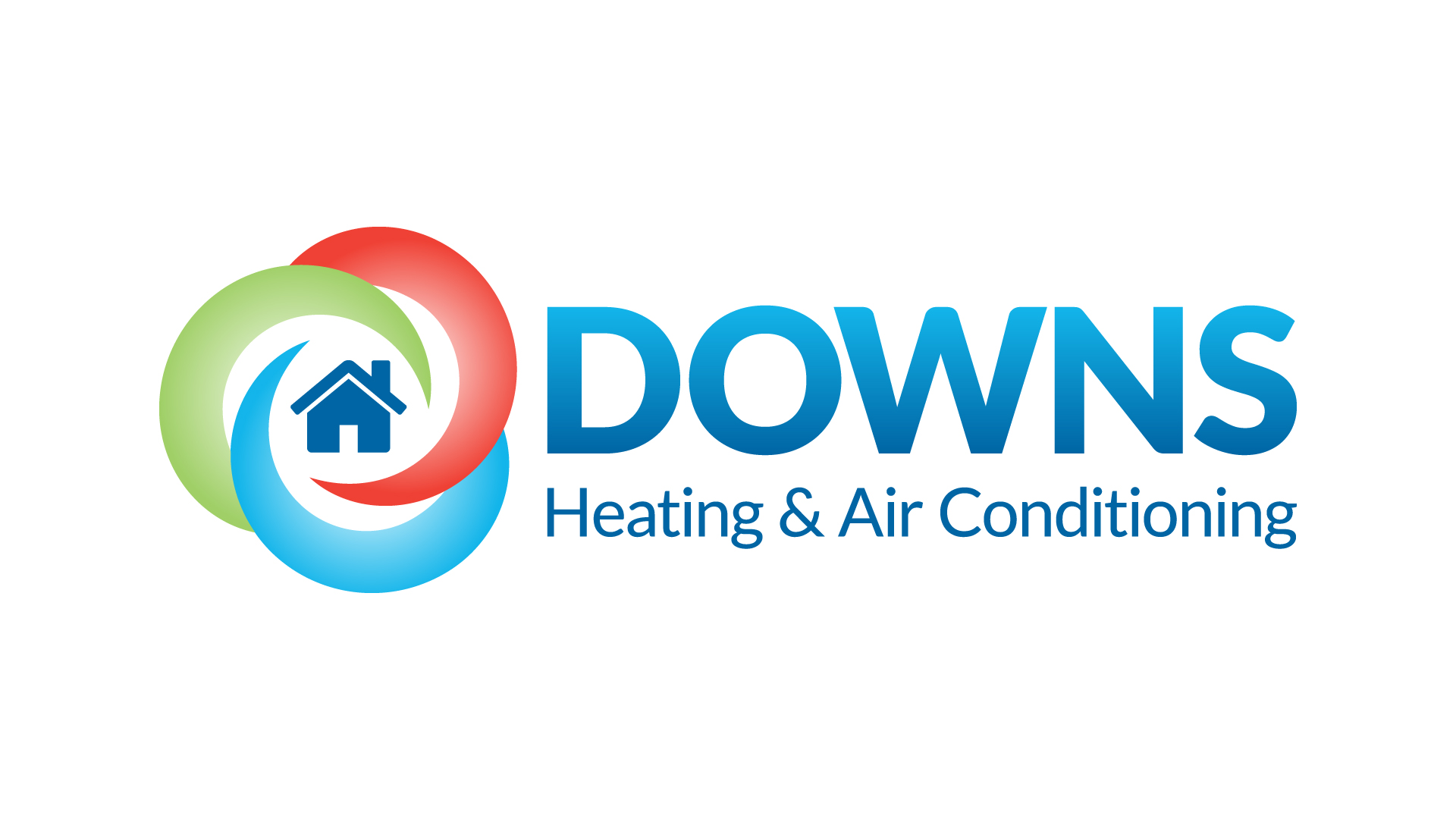 Downs Heating and Air Conditioning logo Design