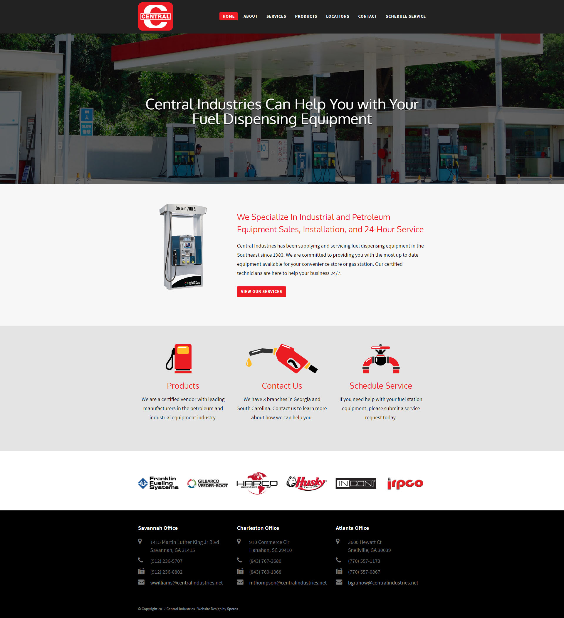 Central Industries Website
