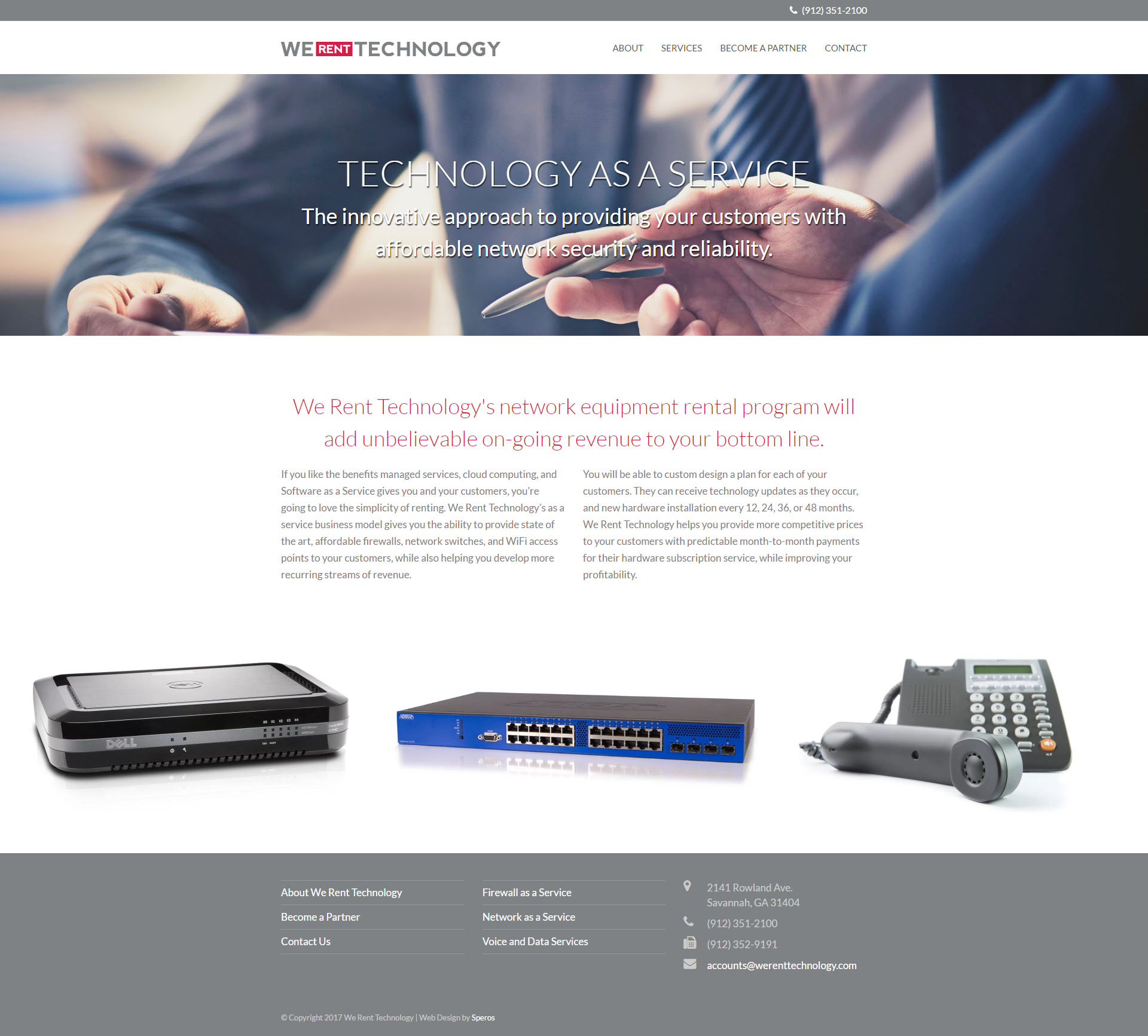 We Rent Technology Website