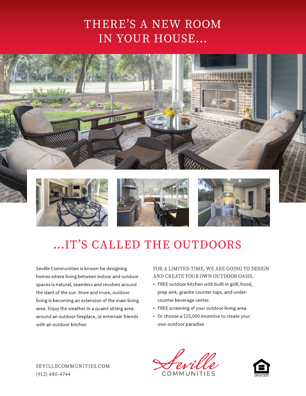 Seville Communities Outdoor Living Flyer