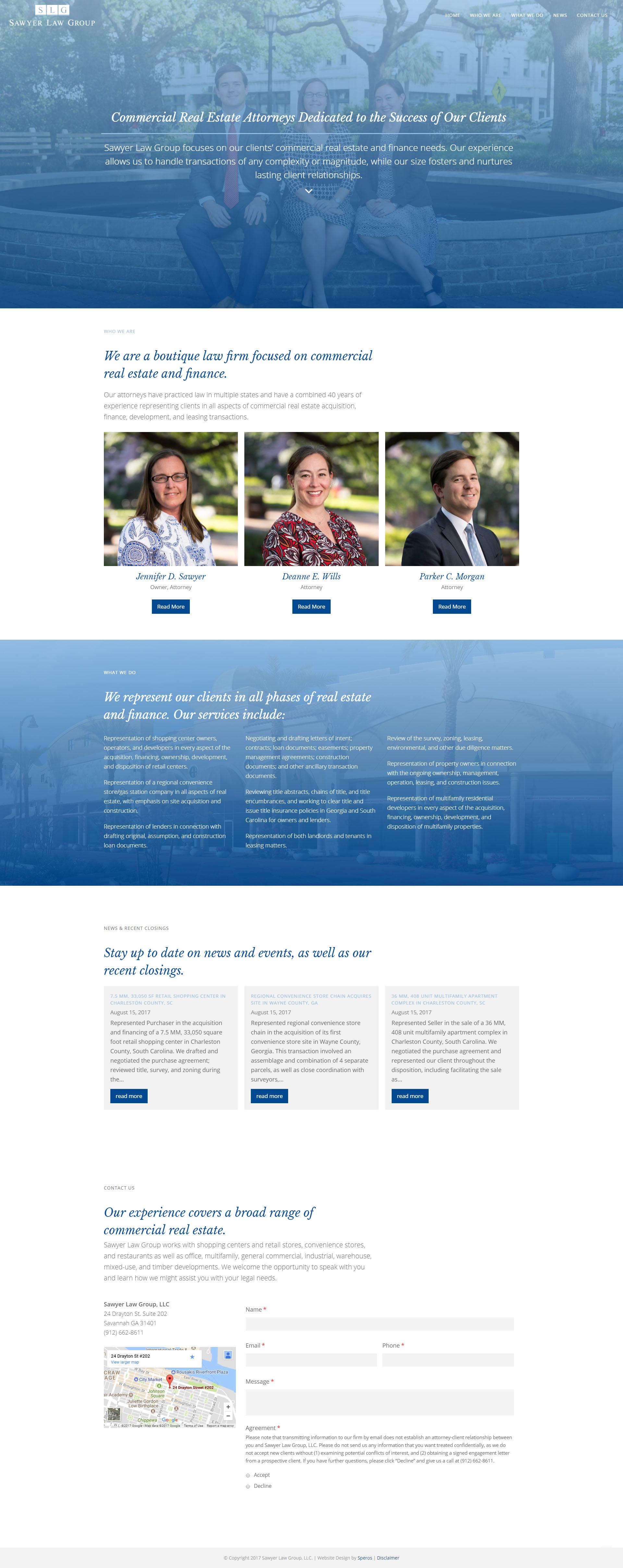 Speros Website Design - Sawyer Law Group