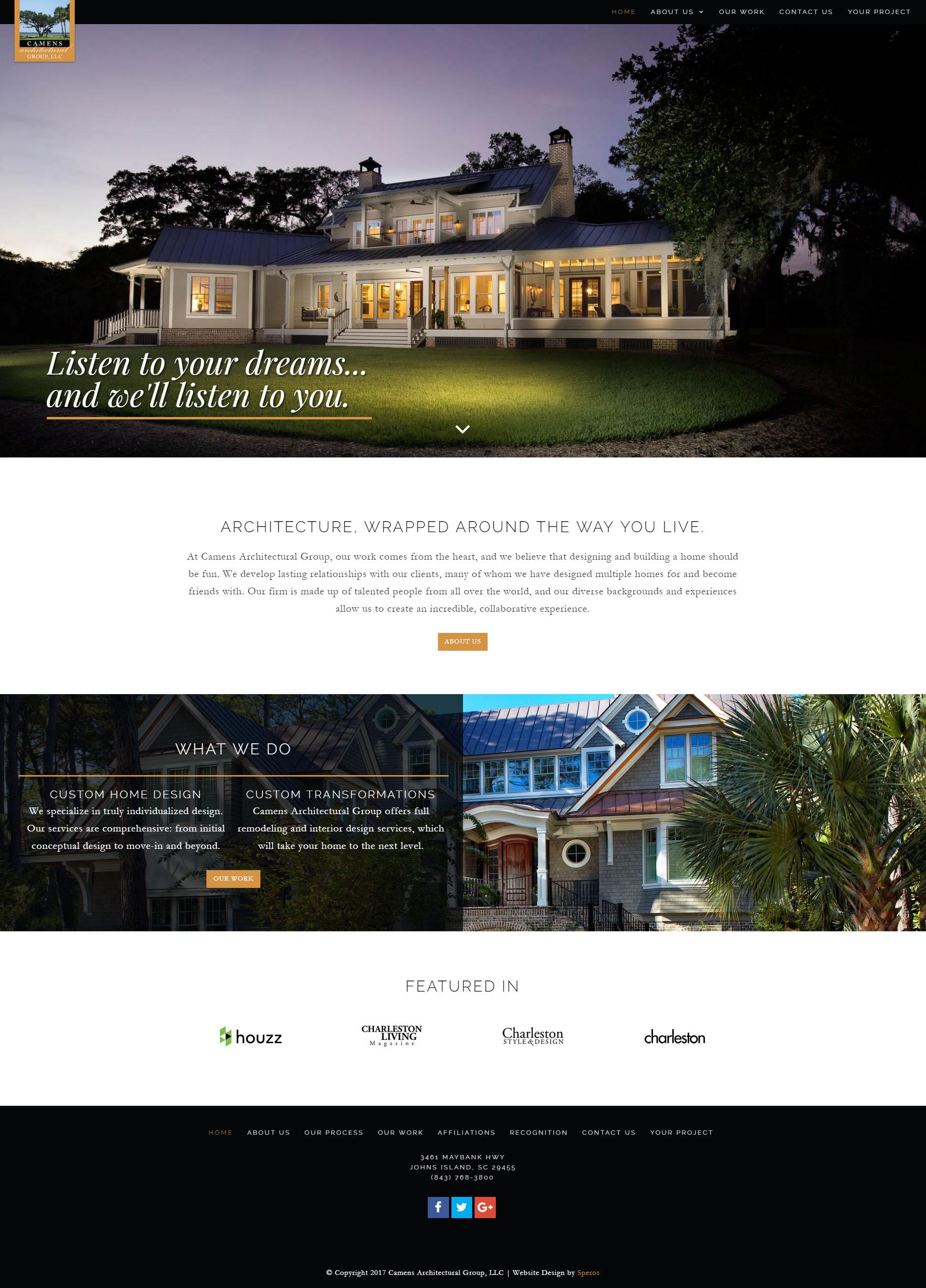 Camens Archtectural Group - Speros Website Design - Savannah