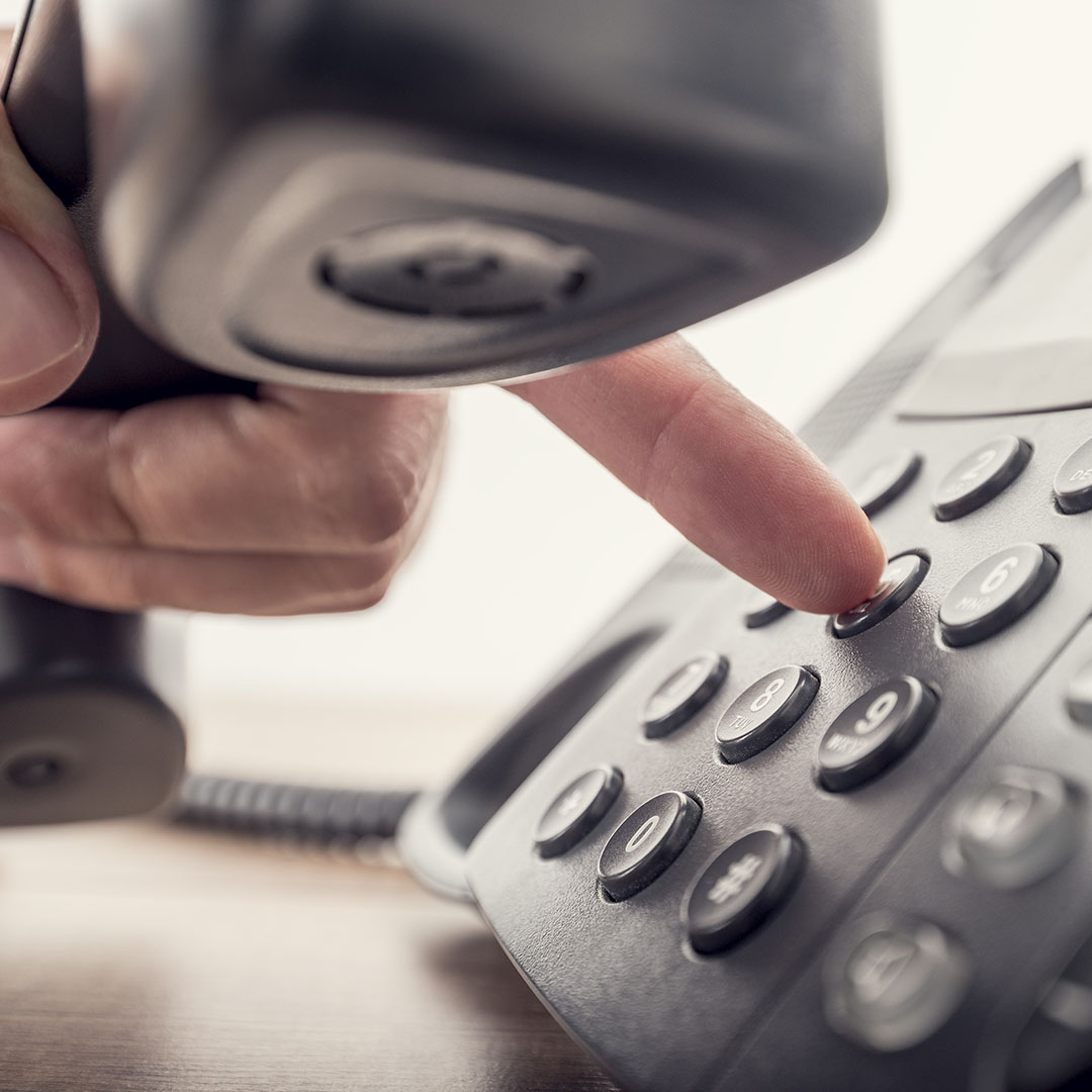 Up-close of a voip office phone - Speros Technology Services - Savannah