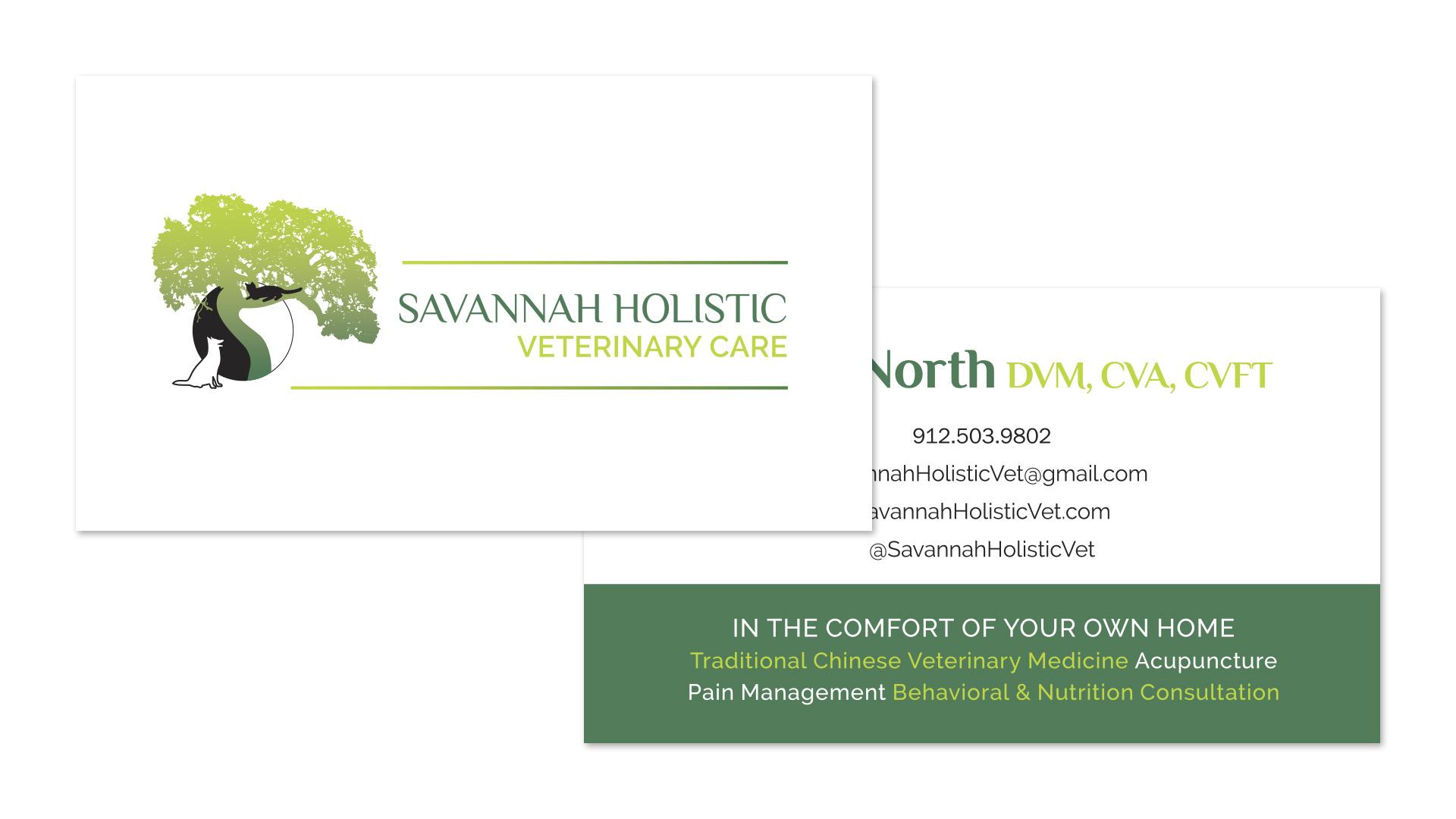 Savannah Holistic Veterinary Care Business Card - Graphic Design - Speros