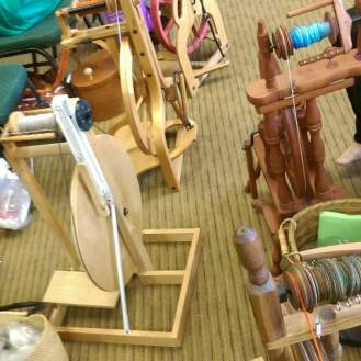 Some of the variety of spinning wheels