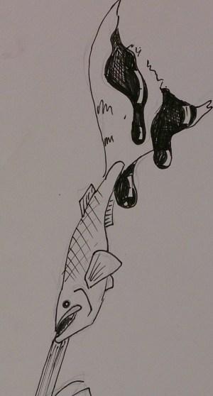guppy paintbrush illustration