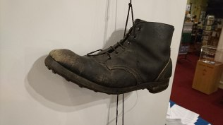 Boots, art exhibition, Grantown MuseumConsequences launch, Grantown Museum