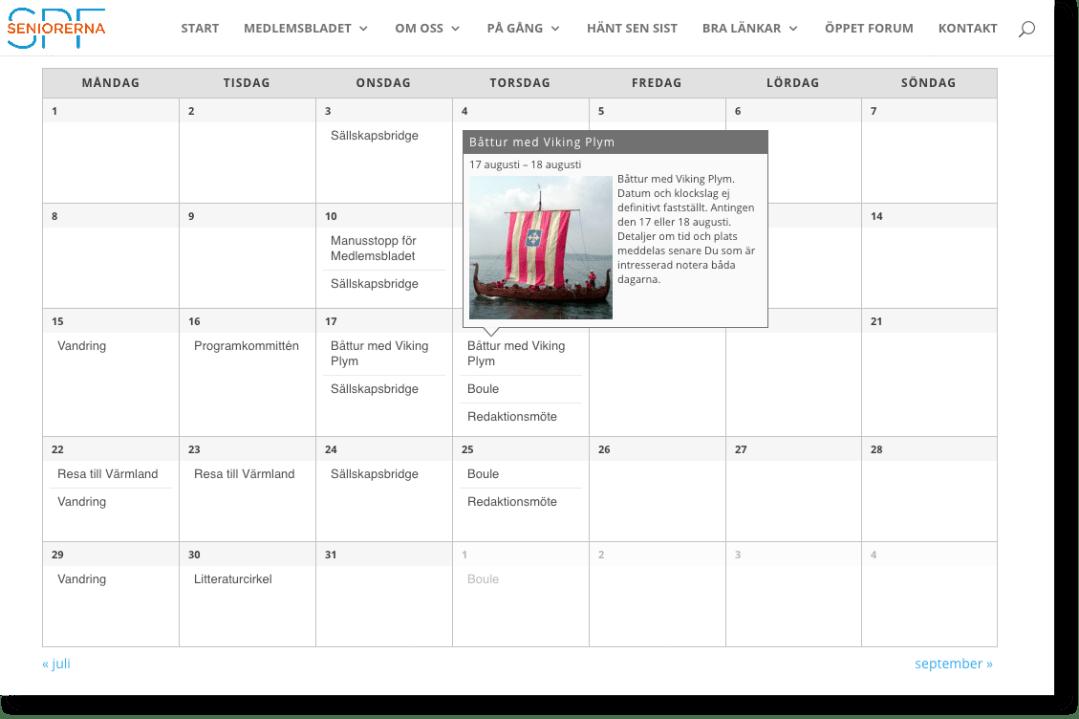 Kalender SPF Seniorerna Jarlabanke