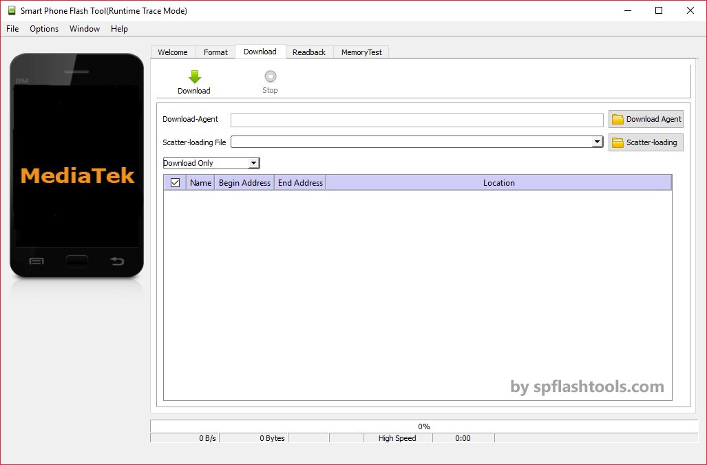 SP Flash Tool v5.1624 for Linux