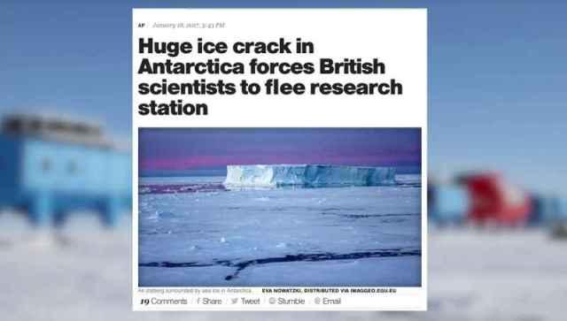 7 Huge Crack In Ice Shelf