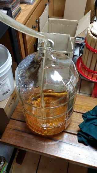 Racking The Oaked Peach