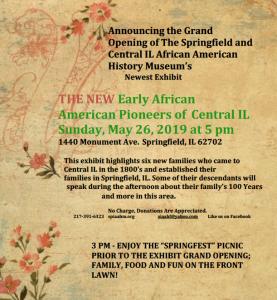 Early African American Pioneers of Springfield and Central Illinois @ Springfield and Central Illinois African American History Museum